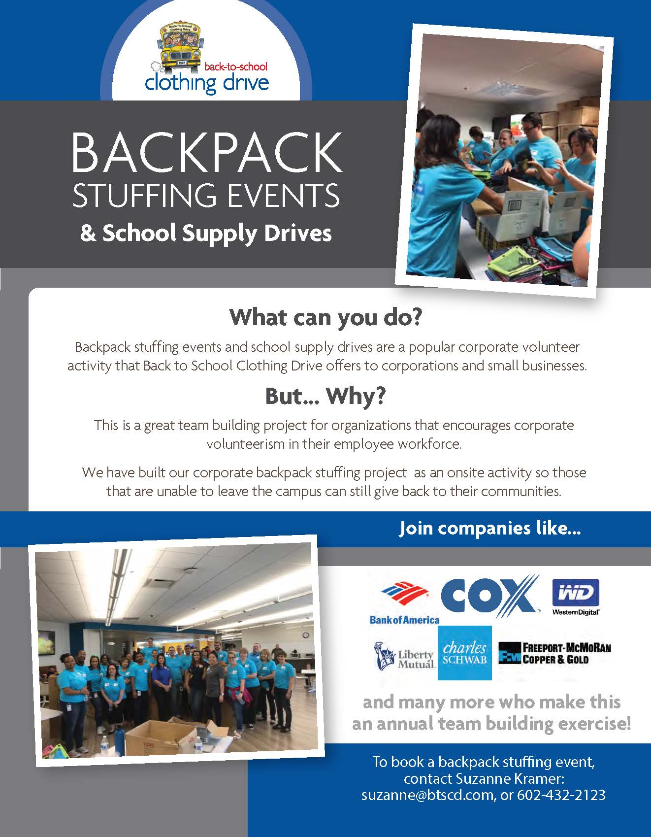Host a Backpack Stuffing Event!