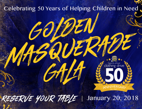 Back to School Clothing Drive Celebrates 50 Years with a Golden Masquerade Gala