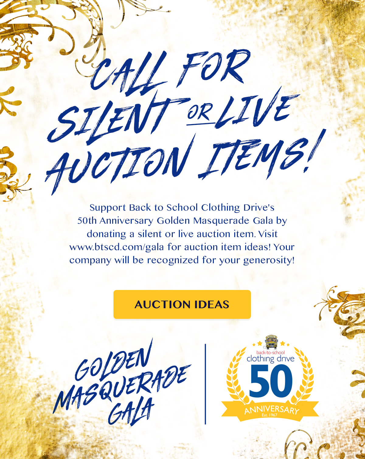live and silent auction wish list – a call to action! – back-to