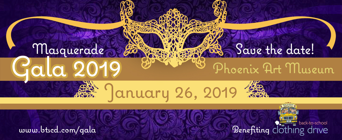 2019 Golden Masquerade Gala – Back-to-School Clothing Drive